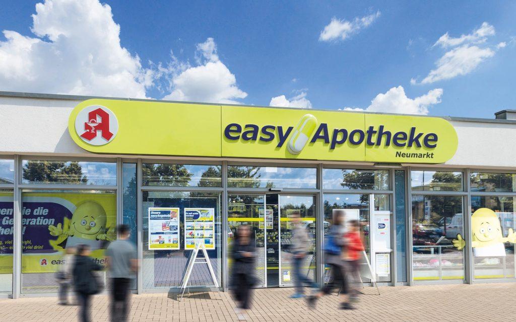 Die easyApotheke Neumarkt von Apotheker Peter Dorfner von außen