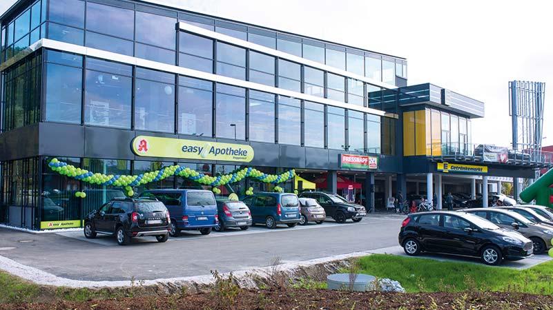 easyApotheken befinden sich immer in der Nähe zu täglichen Versorgern.