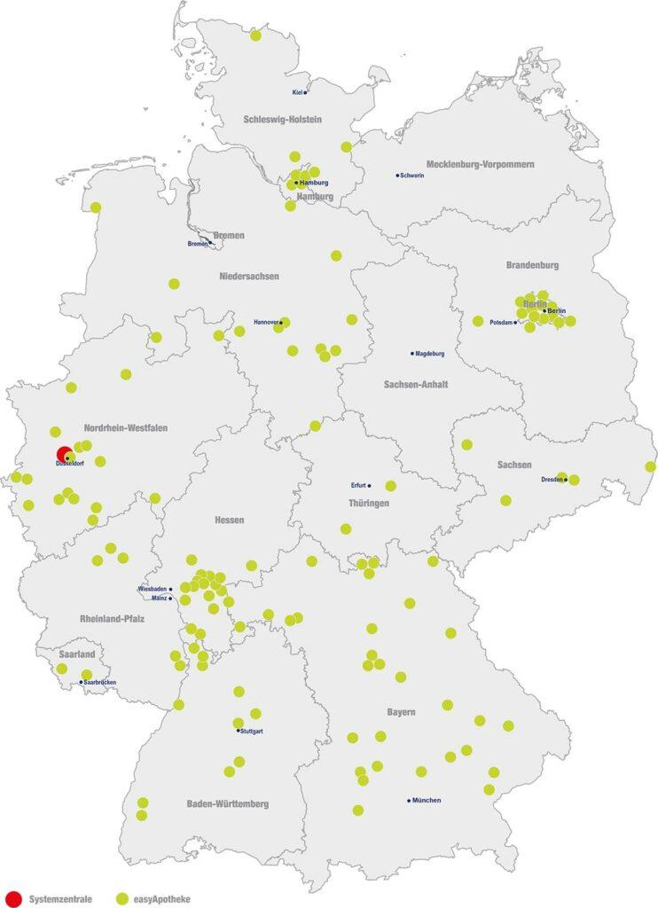 easyApotheke - Unsere Standorte in Deutschland